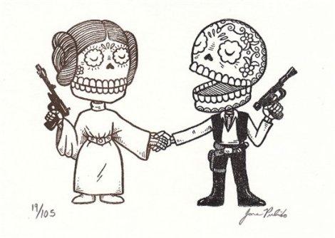 Personajes-de-Star-Wars-al-estilo-arte-mexicano-02