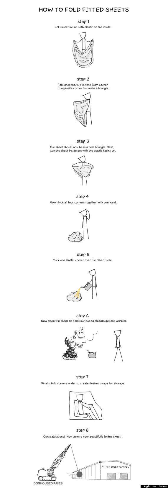 como doblar sabanas