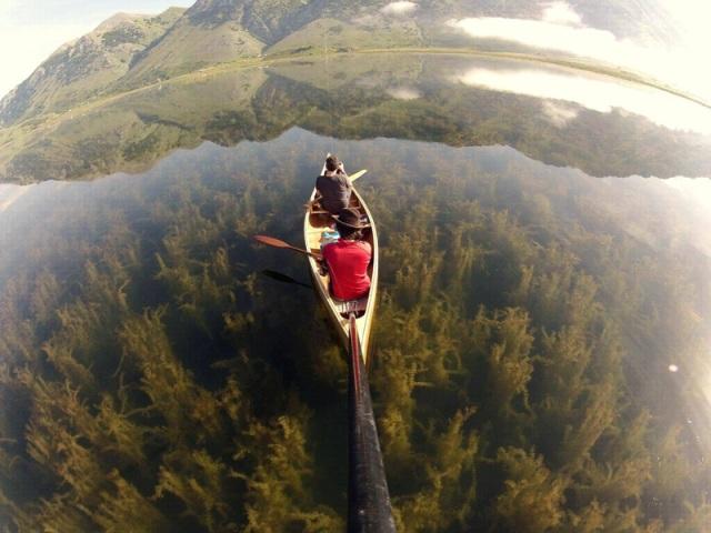 crystal-clear-lake-canoe-gopro