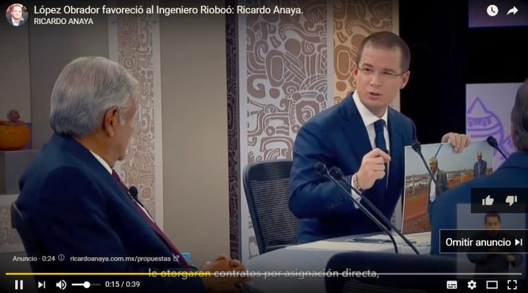 anaya youtube 3er debate